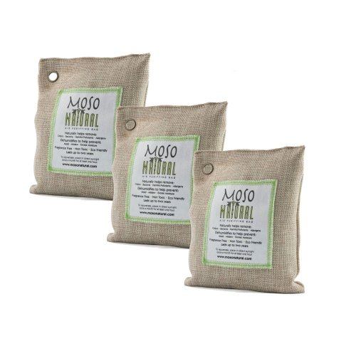 Moso Natural 200gm Air Purifying Bag, Natural, 3-Pack, My Pet Supplies
