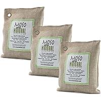 Moso Natural 200gm Air Purifying Bag, Natural, 3-Pack