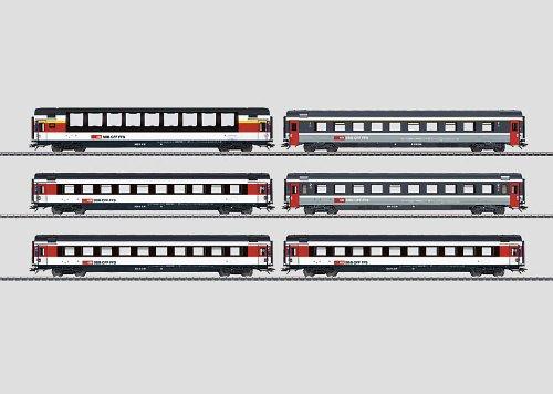 2012 SBB EuroCity Express Train Passenger 6-Car Set (HO - Trix Express