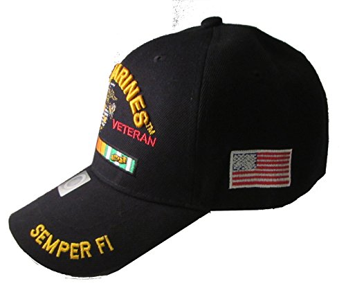 U.S. Marines Vietnam Veteran Adjustable Baseball Cap (Black)
