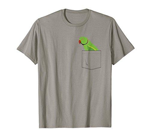 Indian Ringneck Parakeet Parrot Male Front Pocket -