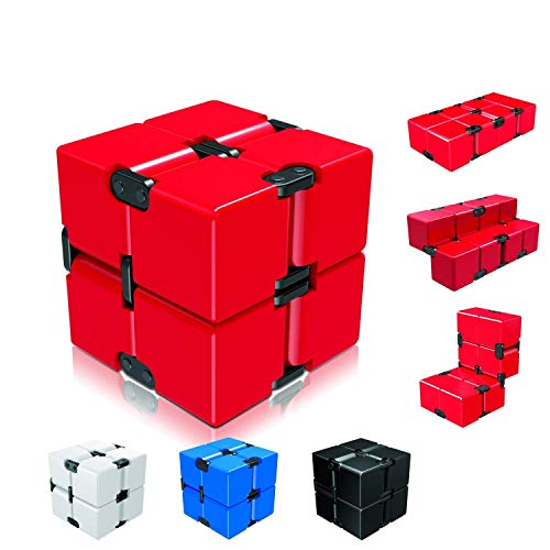 - Ganowo Infinity Cube Fidget Toy for Kids and Adults, Fidget Cube Cool Mini Magic Cube Gadget Spinner for Stress and Anxiety Relief and Kill Time (Red)