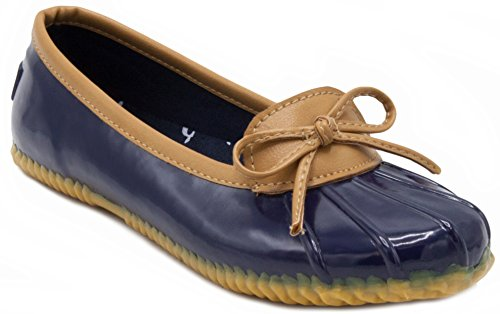 London Fog Womens Webster Rain Shoe Navy 10 M US