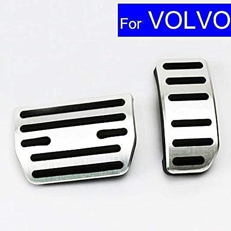 autosunshine coche nueva aleación de aluminio Combustible Gasolina Combustible del embrague pedales de freno en el frenado pad Foot Rest Plate Set: ...