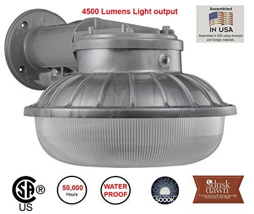 Lights of America 45 Watt Dusk to Dawn LED Down Light (9349E2-GR5) (Lights Of America Led Outdoor Wall Pack Light)