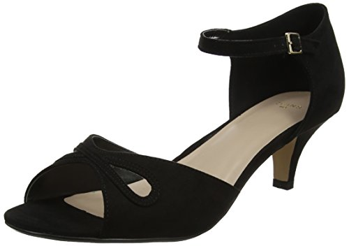 Evans Damen Helen Pumps, Schwarz (Black 01), 38 EU