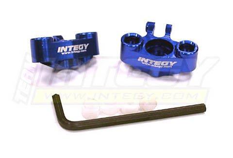 Integy RC Model Hop-ups T3414BLUE Alloy Steering Block (2) for 1/16 Traxxas E-Revo VXL,Slash VXL,Summit VXL,Rally (Steering Block Integy)