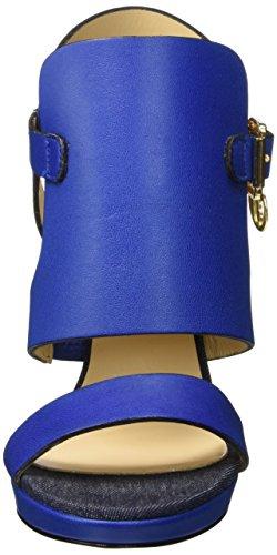 Trussardi Jeans 79s00249, Sandalias de Punta Descubierta para Mujer Azul (46 Bluette)