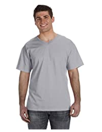Fruit Of The Loom Men's 1X1 Rib Hemmed Sleeves T-Shirt