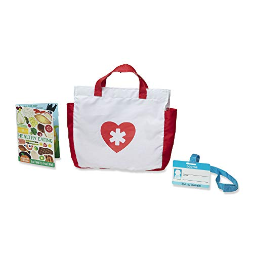 41nXeK%2BF7yL - Melissa & Doug Get Well Doctor's Kit Play Set, The Original (25 Pieces, Great Gift for Girls and Boys - Kids Toy Best for 3, 4, 5, and 6 Year Olds)