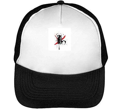 Granate Hombre Snapback Trash Polka Blanco Beisbol Negro Gorras q7Htxx5