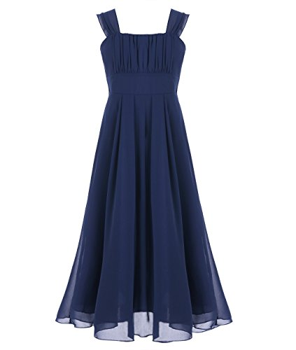 ffon Pageant Graduation Bridesmaid Dress Junior Wedding Gown Navy Blue 14 (Blue Juniors Dress)