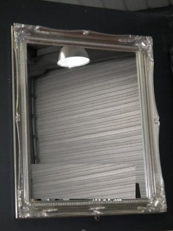 Silver Shabby Chic Wall Mirror complete with Premium Quality ...