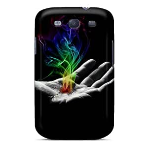 Protector Hard Phone Case For Samsung Galaxy S3 With Unique Design Beautiful In Flames Band Series MansourMurray