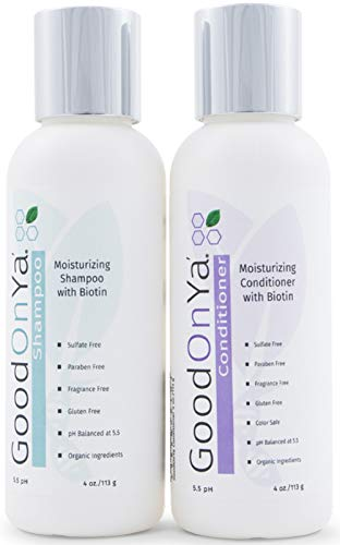 Moisturizing Shampoo and Conditioner Set with Biotin and Manuka Honey - Biotin for Hair Growth - Volumizing Hair Loss Treatment for Thinning Hair - Gentle & Safe for Color Treated Hair (4 oz)