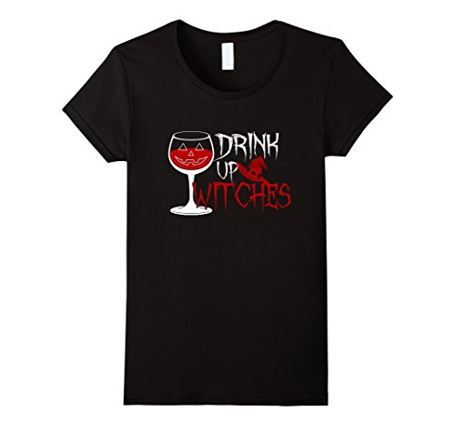 Women Witch Costume Ideas (Womens Drink Up Witch Funny Halloween Costume For Women Men T Shirt Large Black)