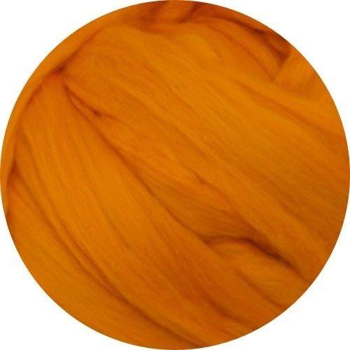 Merino Wool Roving for Felting - 1 Ounce Tangerine (Tangerine Wool)