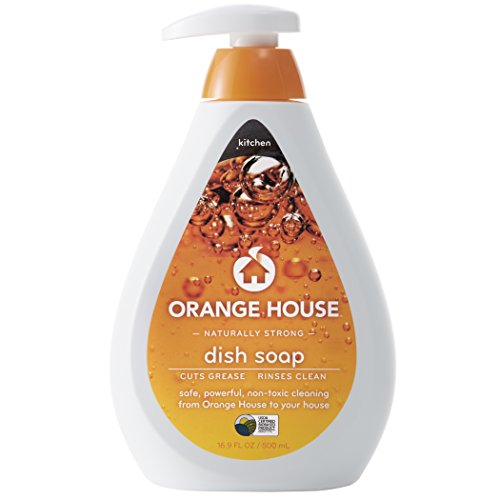 Orange House Dish Soap, Non-Toxic and Naturally Powerful, 16.9 fl. oz.