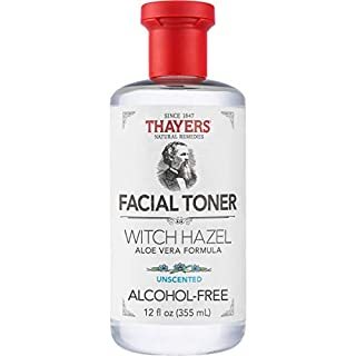 Thayers Alcohol-Free Unscented Witch Hazel Facial Toner with Aloe Vera Formula - 12 oz