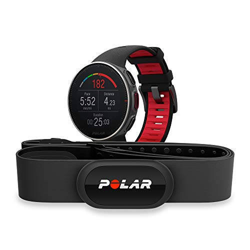 Polar Vantage V Titan, Advanced GPS Multisport Watch with H10 HRM Chest Strap for Multisport and Triathlon Training, (HRM, Running Power, Waterproof)