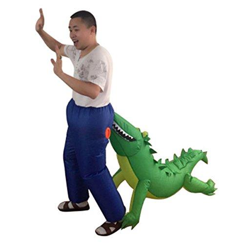Wecloth Inflatable Suit Crocodile Bite Butt Costume Funny Dress Bar Comic (Dinosaur Costume Comic)