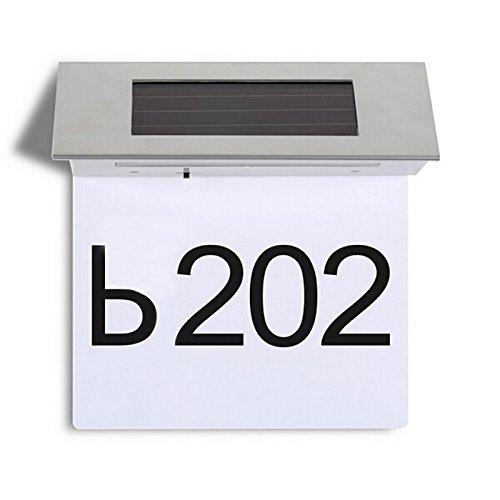 Solar Powered Address Lamp