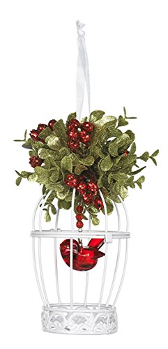 Ganz Christmas Ornaments - Kissing Krystals Mistletoe Birdcage Ornament