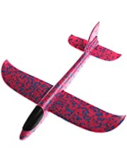 Margoun Educational Toy Plane 2018 model Hand Launch Throwing Glider Aircraft Kids Outdoor Beach Foam Airplane EPP Toy For Fun Sports with Dimension of 48CM x 49CM x 12CM - Pink