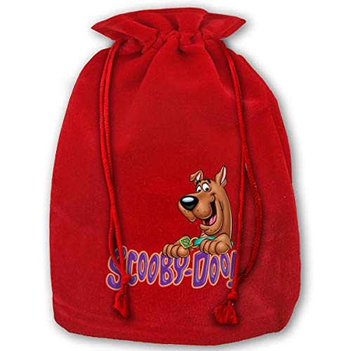 Hweoweek Bags Santa Sack with Drawstring, Scooby Doo Logo Reusable Fabric Present Wrapping Bag]()