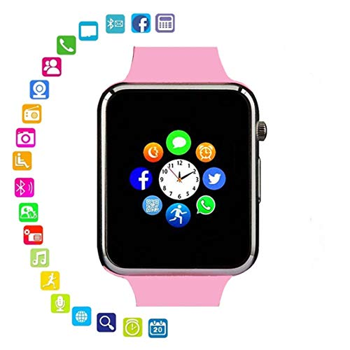 Wimison Smart Watch Cell Phone Watch Card SIM SD with pedometercamera Music Player Watch Notification for Android iOS Women and Men