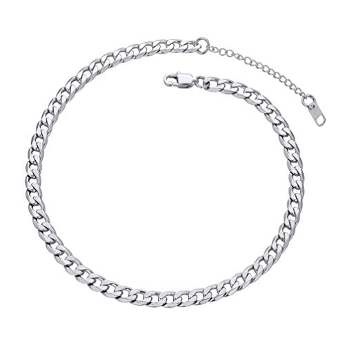 PROSTEEL Stainless Steel Cuban Curb Chain Choker Necklaces Women Men Girl Jewelry Trendy Cuban Link Chain Choker Necklace