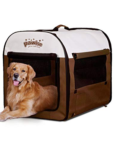 PAWISE Folding Soft Dog Crate Pet Kennel Houses Pens Indoor & Outdoor (Large)