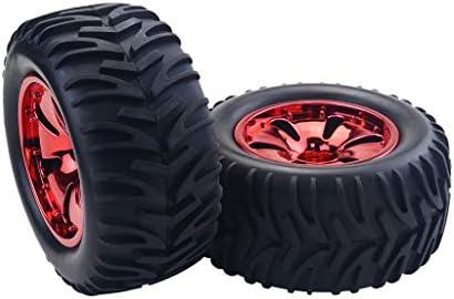 RCカータイヤ ゴムタイヤ ホイールハブ HPI Savage MT ZD Racing適用 全3色 - 赤