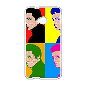 HTC One M7 Cell Phone Case White Elvis qab