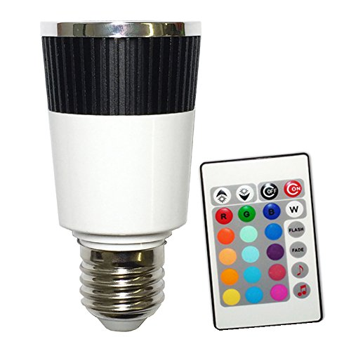 Red Light Changer - Platinum Bulb Platinum Music LED Color Changer E27 Lamp With Wireless Remote