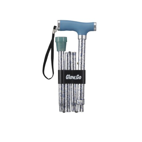 Drive Medical Folding Canes with Glow Grip Handle, Light Blue by Drive Medical (Image #1)