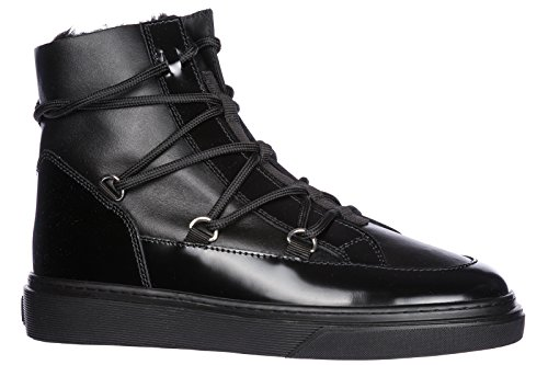 Women's Leather Black Hogan Trainers h342 Sneakers Shoes high top dfW1RIq