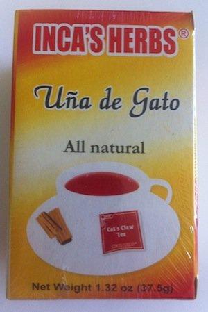 Inca's Herb Uña De Gato (Cat's Claw Tea) Single Box 1.32oz - Product of Peru ()