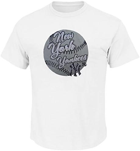 New York Yankees MLB para hombre Majestic blanco envejecido béisbol camiseta tallas grandes, Blanco: Amazon.es: Deportes y aire libre