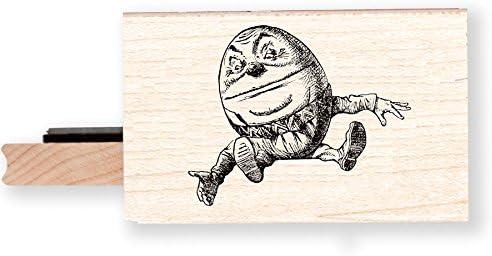 BR068K Alice in Wonderland Humpty Dumpty Rubber Stamp