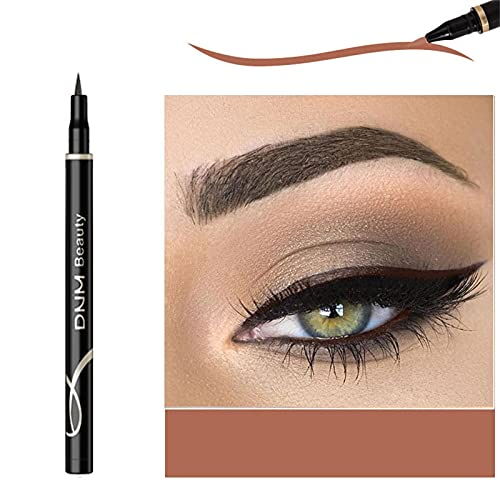 12 Color Colored Liquid Eyeliner - Mattee Liquid Eye Liner Waterproof Long-lasting Eyeliner 0.6ml 1 Piece (#2-Dark Coffee)