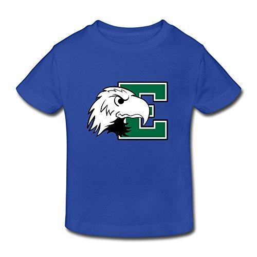 RoyalBlue Ambom Eastern Michigan Eagles Little Boys Girls Short Sleeve T Shirt For Toddlers Size 4 Toddler