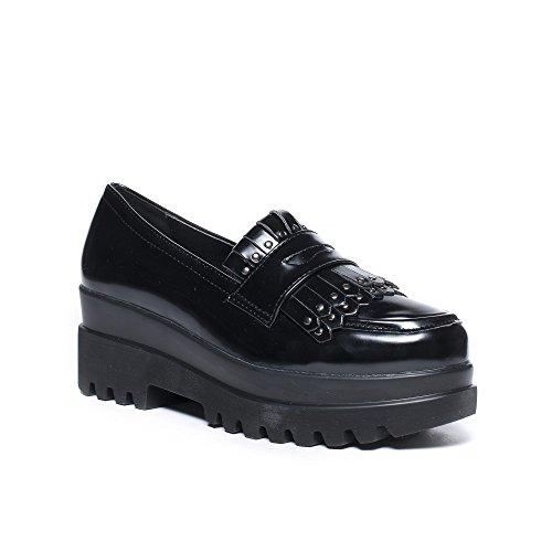 Ideal Shoes, Damen Slipper & Mokassins Schwarz