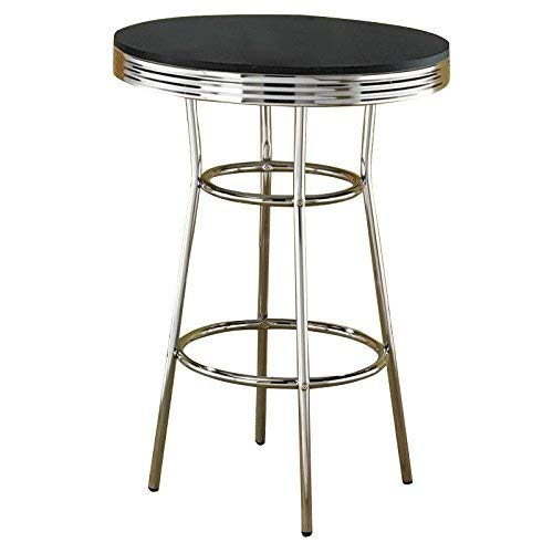 Cleveland 50's Soda Fountain Bar Table Black and Chrome ()