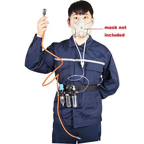 Supplied Air System For Spraying Respirator Gas Mask----Mask Not Included, Fit Bayonet Connection Mask, Smooth Breathing by Chudeng (Image #2)