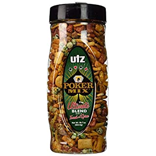 Utz Pub Mix - 23 Ounce Barrel - Crunchy Snack Mix with a Touch of Spicy, Perfect Party Snacks - Resealable Container - Cholesterol Free and Trans-Fat Free