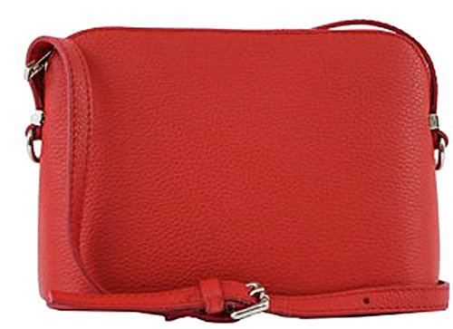 amp; Red Leather Woman G Pelletteria Bag Crossed G gqdxUBwH