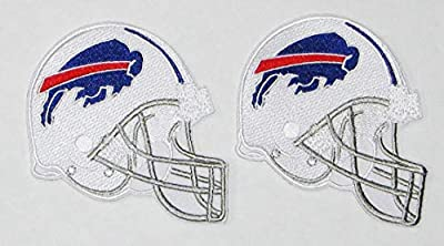 "LOT of (2) New NFL Buffalo Bills Embroidered Helmets Patches 3 1/2"" X 3"""