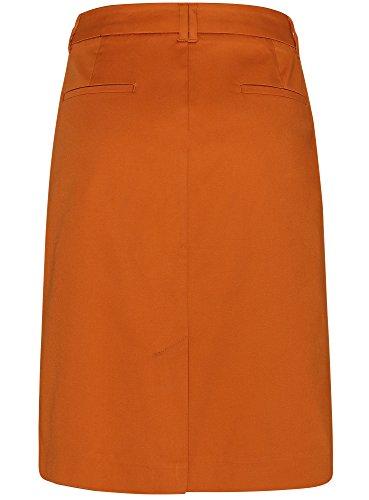 oodji Collection Mujer Falda Recta de Algodón Amarillo (5700N)