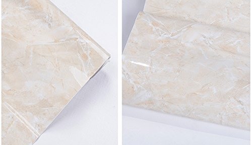 Self Adhesive Glossy Granite Marble Grain Contact Paper for Kitchen Countertop Cabinets Backsplash Table Drawer Shelf Wall Crafts Projects (24 by 78.6 Inches)